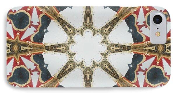 Kaleidoscope Wheel Phone Case by Cathy Lindsey