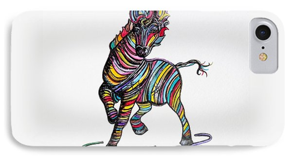 Kaleidoscope Zebra -- Baby Strut Your Stuff  Phone Case by Eloise Schneider