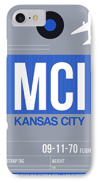 Kansas City Airport Poster 2 IPhone Case by Naxart Studio