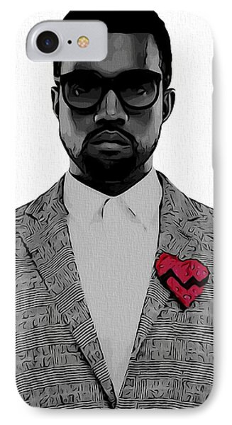 Kanye West  IPhone 7 Case by Dan Sproul