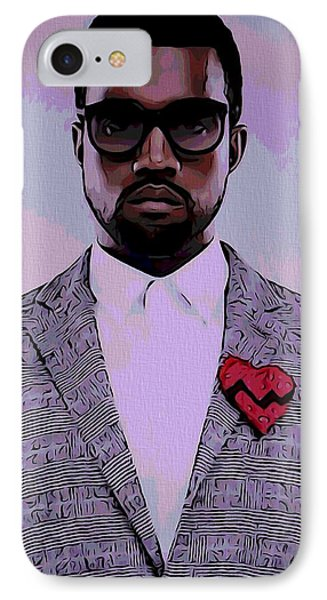 Kanye West Poster IPhone 7 Case by Dan Sproul