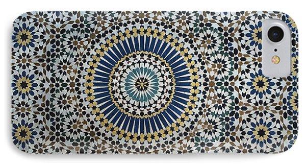 Kasbah Of Thamiel Glaoui Zellij Tilework Detail  IPhone Case by Moroccan School