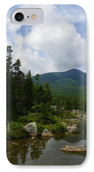 Katahdin From Sandy Stream Pond Phone Case by Georgia Hamlin