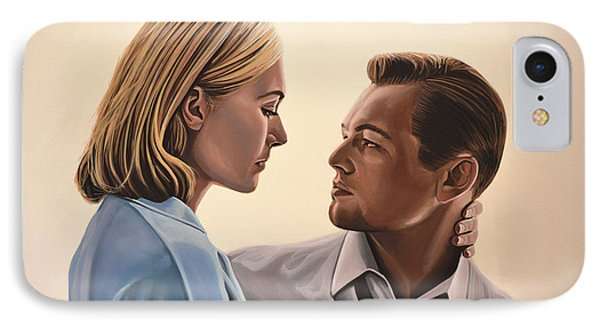 Kate Winslet And Leonardo Dicaprio Phone Case by Paul Meijering