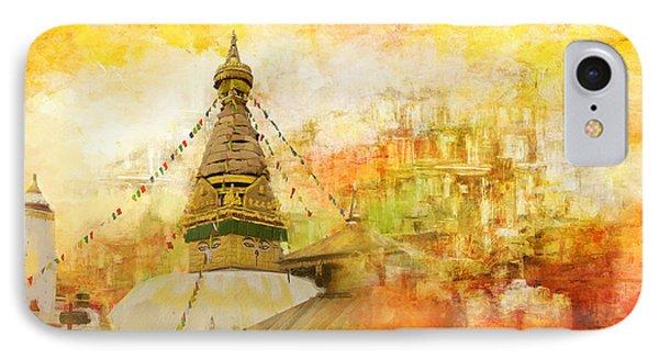 Kathmandu Valley IPhone Case by Catf