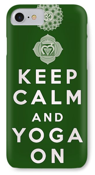 Keep Calm And Yoga On IPhone Case by Georgia Fowler