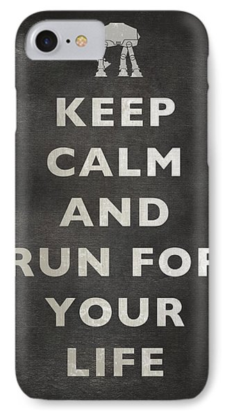 Keep Calm At-at IPhone Case by Andy Walsh
