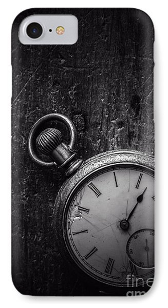 Keeping Time Black And White IPhone Case by Edward Fielding