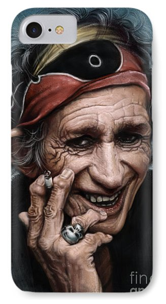 Keith Richards IPhone Case by Andre Koekemoer