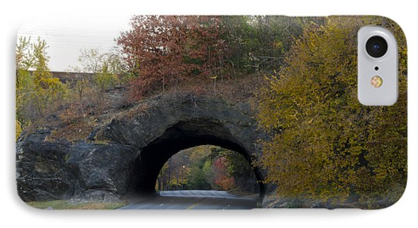 Kelly Drive Rock Tunnel In Autumn IPhone Case by Bill Cannon