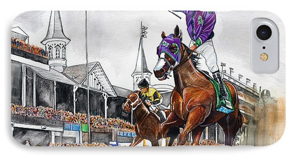 Kentucky Derby Winner California Chrome IPhone Case by Dave Olsen
