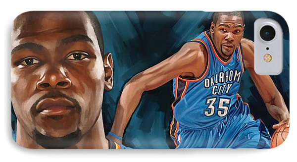 Kevin Durant Artwork IPhone Case by Sheraz A