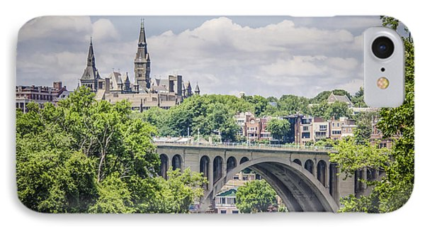 Key Bridge And Georgetown University IPhone 7 Case by Bradley Clay
