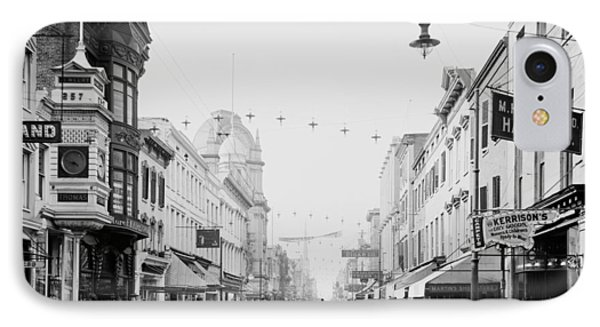 King Street In Charleston South Carolina Circa 1910 IPhone Case by Mountain Dreams