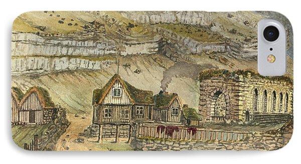 Kirk G Boe Inn And Ruins Faroe Island Circa 1862 Phone Case by Aged Pixel