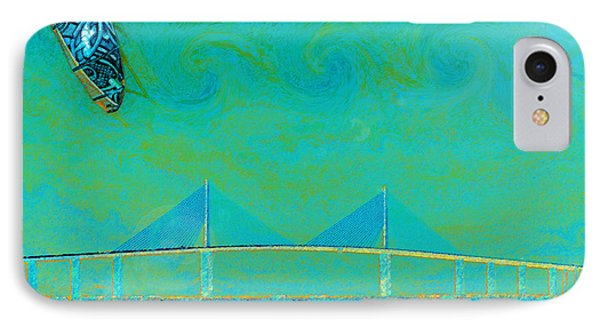 Kiteboarding The Bay Phone Case by David Lee Thompson