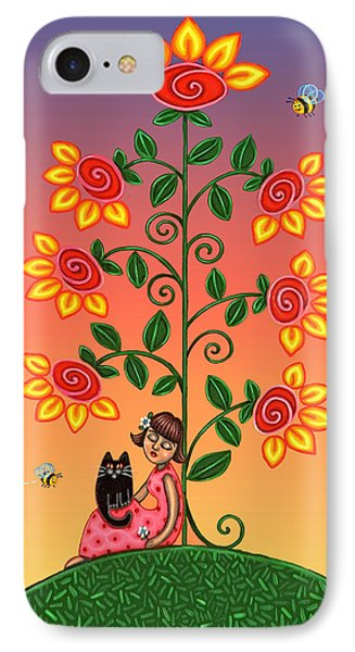 Kitty And Bumblebees Phone Case by Victoria De Almeida