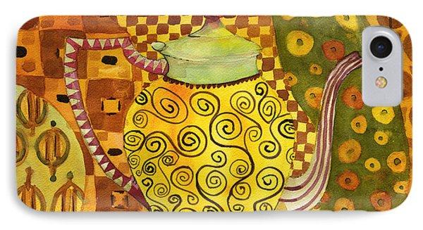 Klimt Style Teapot Blenda Studio IPhone Case by Blenda Studio