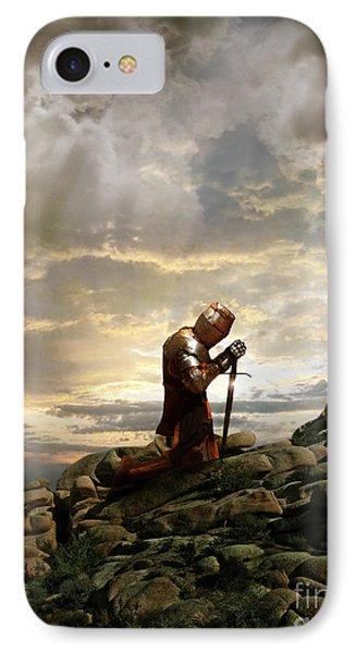 Kneeling Knight IPhone Case by Jill Battaglia