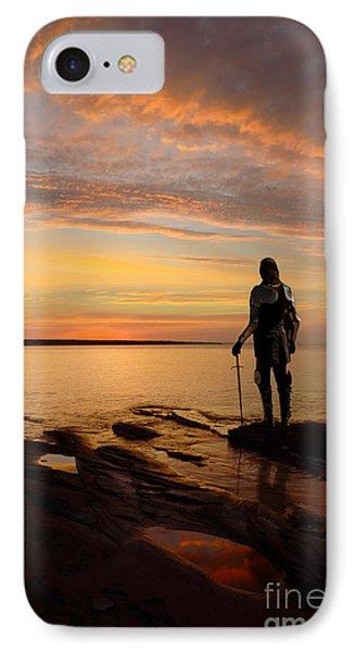 Knight At Sunrise IPhone Case by Jill Battaglia