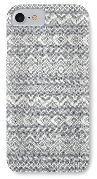 Knit Pattern Abstract IPhone Case by Elena Elisseeva