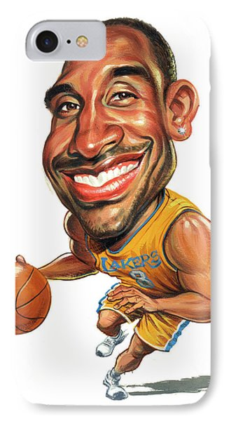 Kobe Bryant IPhone Case by Art