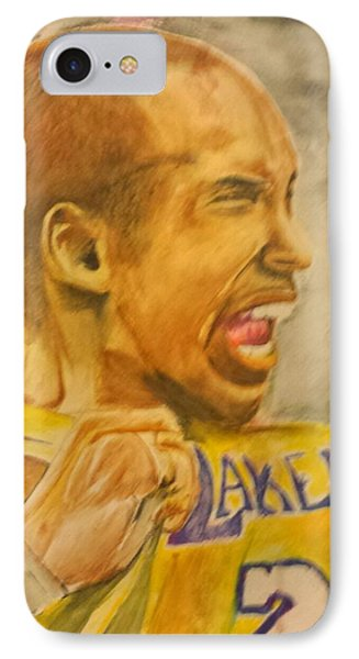 Kobe Victory IPhone Case by Tyrus Upshaw