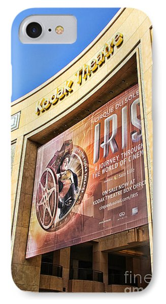 Kodak Theatre IPhone 7 Case by Mariola Bitner