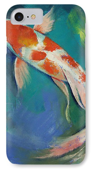 Kohaku Butterfly Koi IPhone Case by Michael Creese