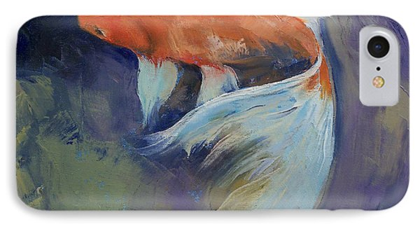 Koi Fish Painting IPhone Case by Michael Creese