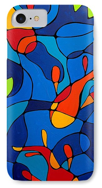 Koi Joi - Blue And Red Fish Print Phone Case by Sharon Cummings