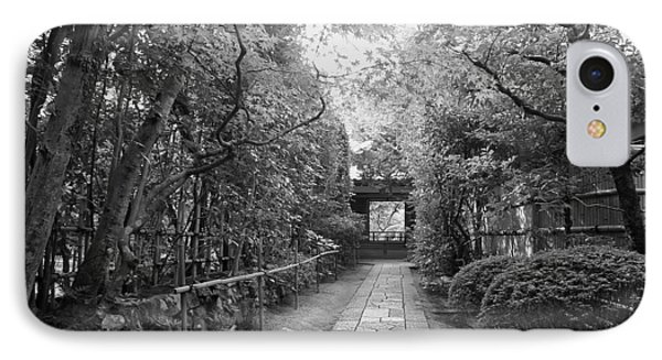 Koto-in Temple Stone Path Phone Case by Daniel Hagerman