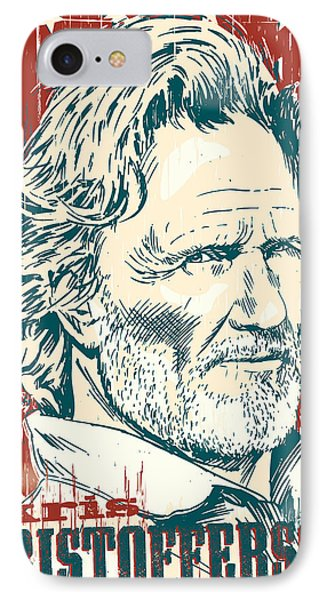 Kris Kristofferson Pop Art IPhone 7 Case by Jim Zahniser