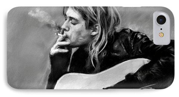 Kurt Cobain Guitar  IPhone Case by Viola El