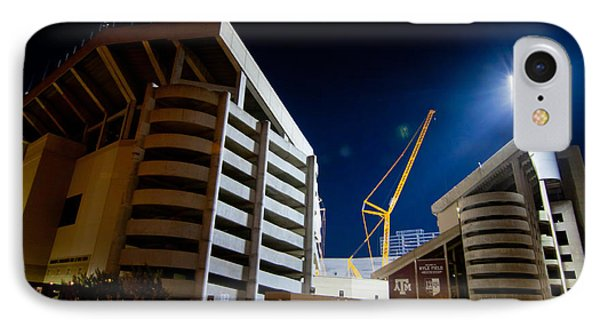 Kyle Field Construction IPhone Case by Linda Unger