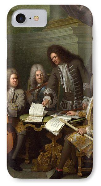 La Barre And Other Musicians IPhone Case by Andre Bouys