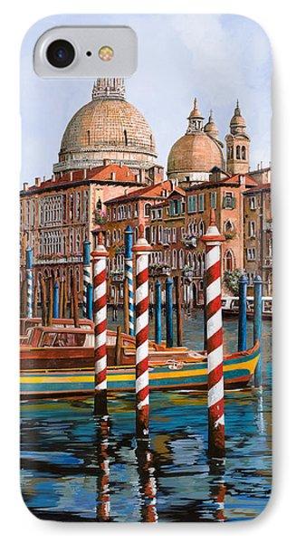 La Chiesa Della Salute Sul Canal Grande IPhone Case by Guido Borelli