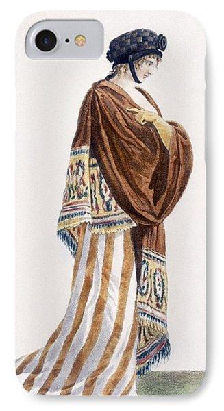 Ladies Dress With Velvet Shawl IPhone Case by Pierre de La Mesangere