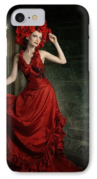 Lady In Red Phone Case by Ester  Rogers