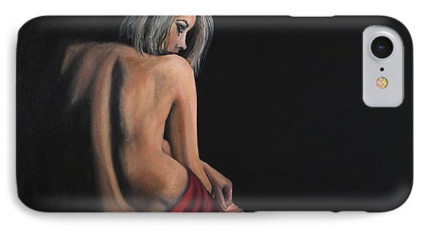 Lady In Red Phone Case by James Kruse
