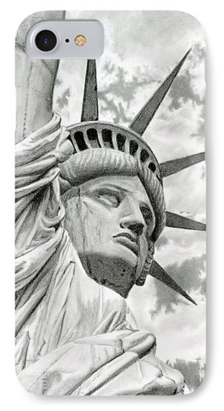 Lady Liberty  IPhone Case by Sarah Batalka