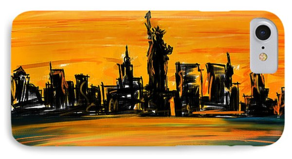 Lady Of New York IPhone Case by Lourry Legarde