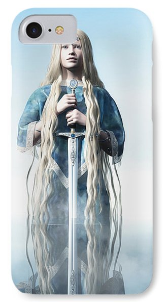 Lady Of The Lake Phone Case by Melissa Krauss