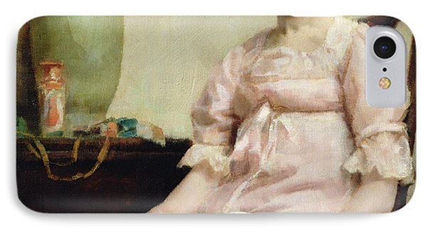 Lady Reading IPhone Case by Fanny Caille