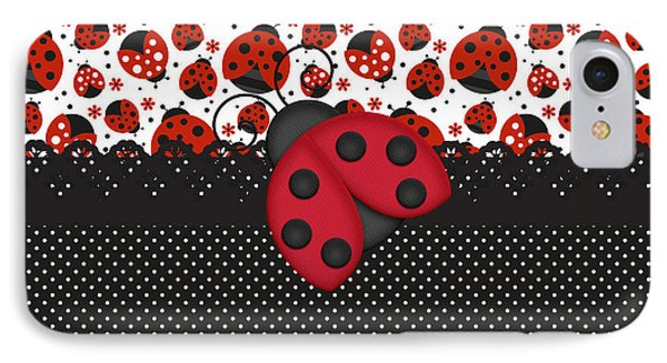 Ladybug Mood  IPhone Case by Debra  Miller