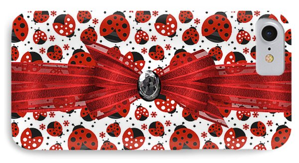 Ladybug Obsession  IPhone 7 Case by Debra  Miller