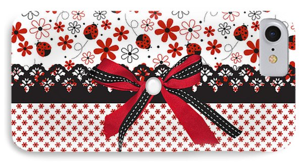 Ladybug Whisper  IPhone Case by Debra  Miller