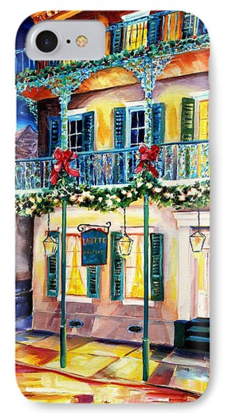 Lafitte Guest House At Christmas IPhone Case by Diane Millsap