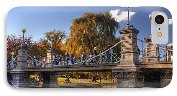 Lagoon Bridge In Autumn IPhone Case by Joann Vitali