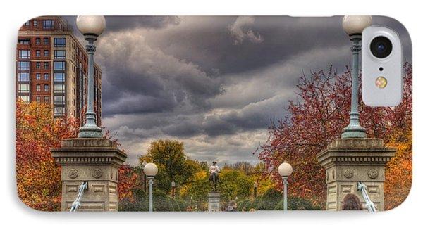 Lagoon Bridge In Boston Public Garden IPhone Case by Joann Vitali